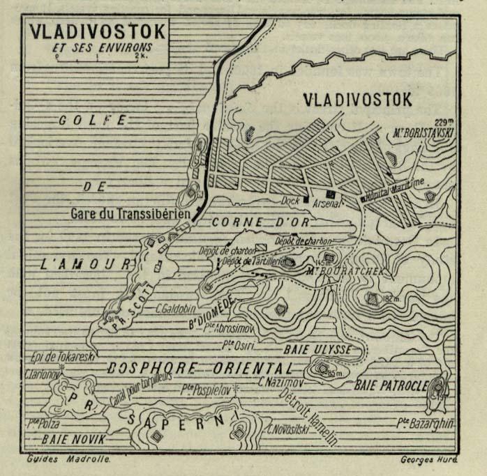 Владивосток, Карта города