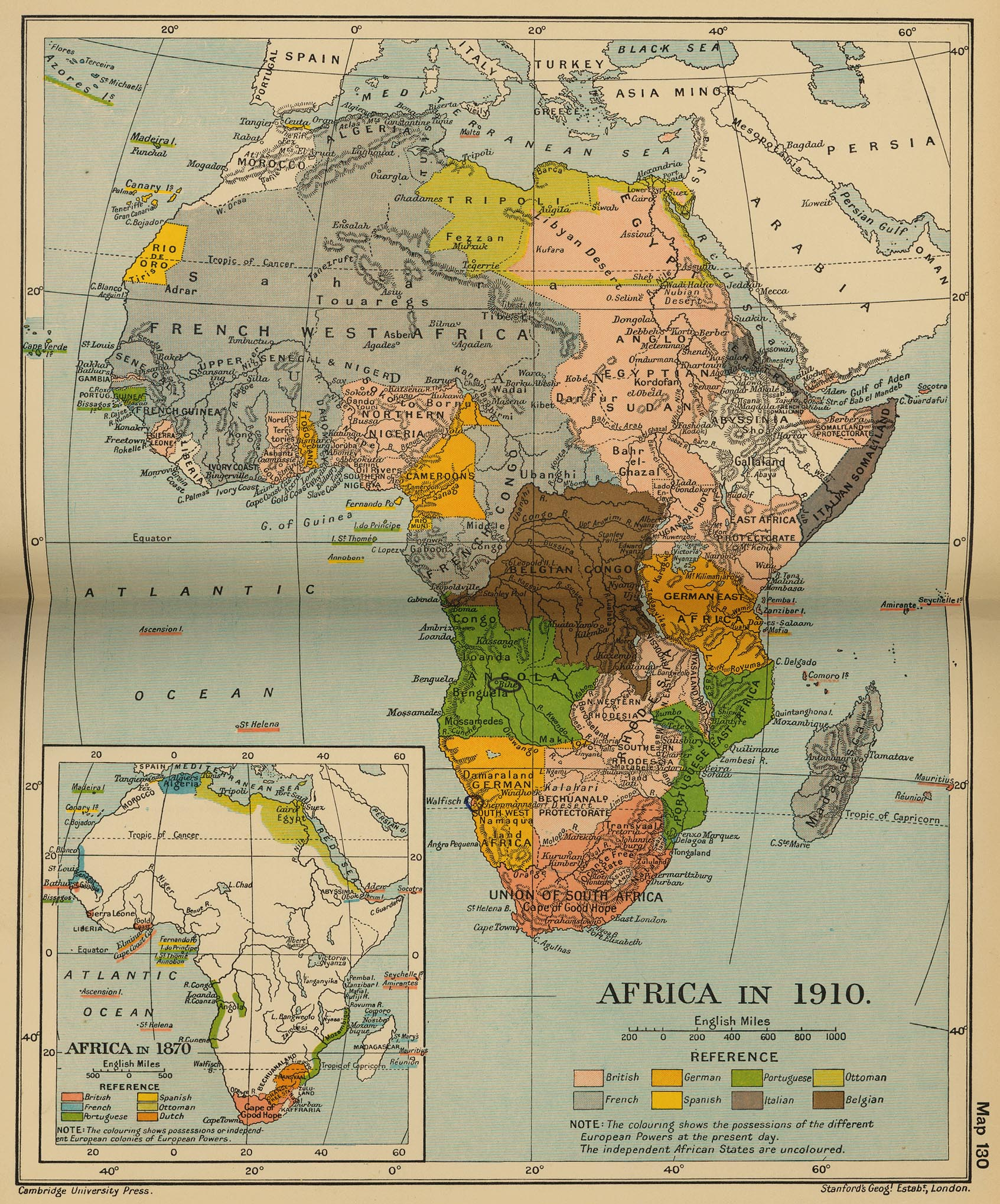 africa map history