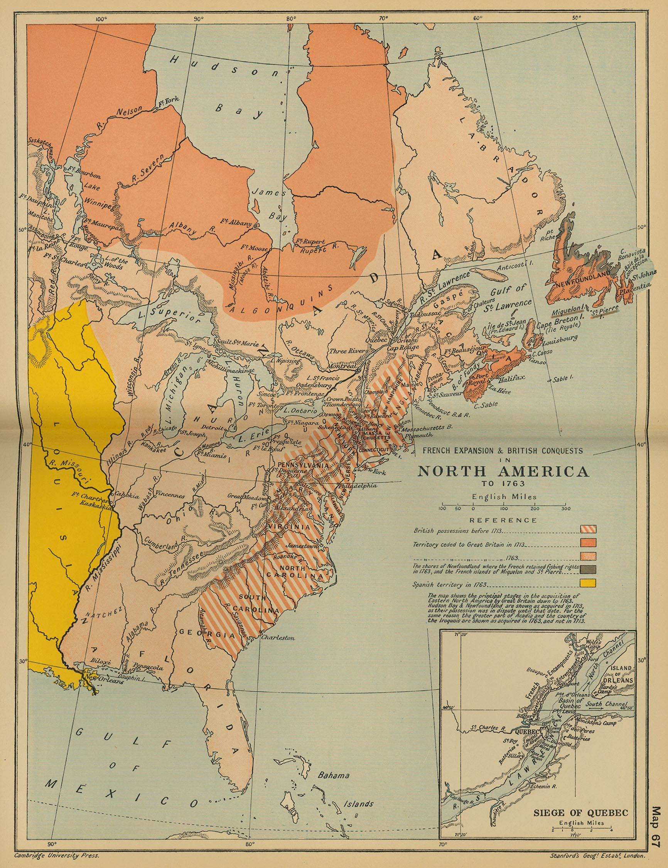 Cambridge Modern History Atlas PerryCastañeda Map - North america historical map 1845