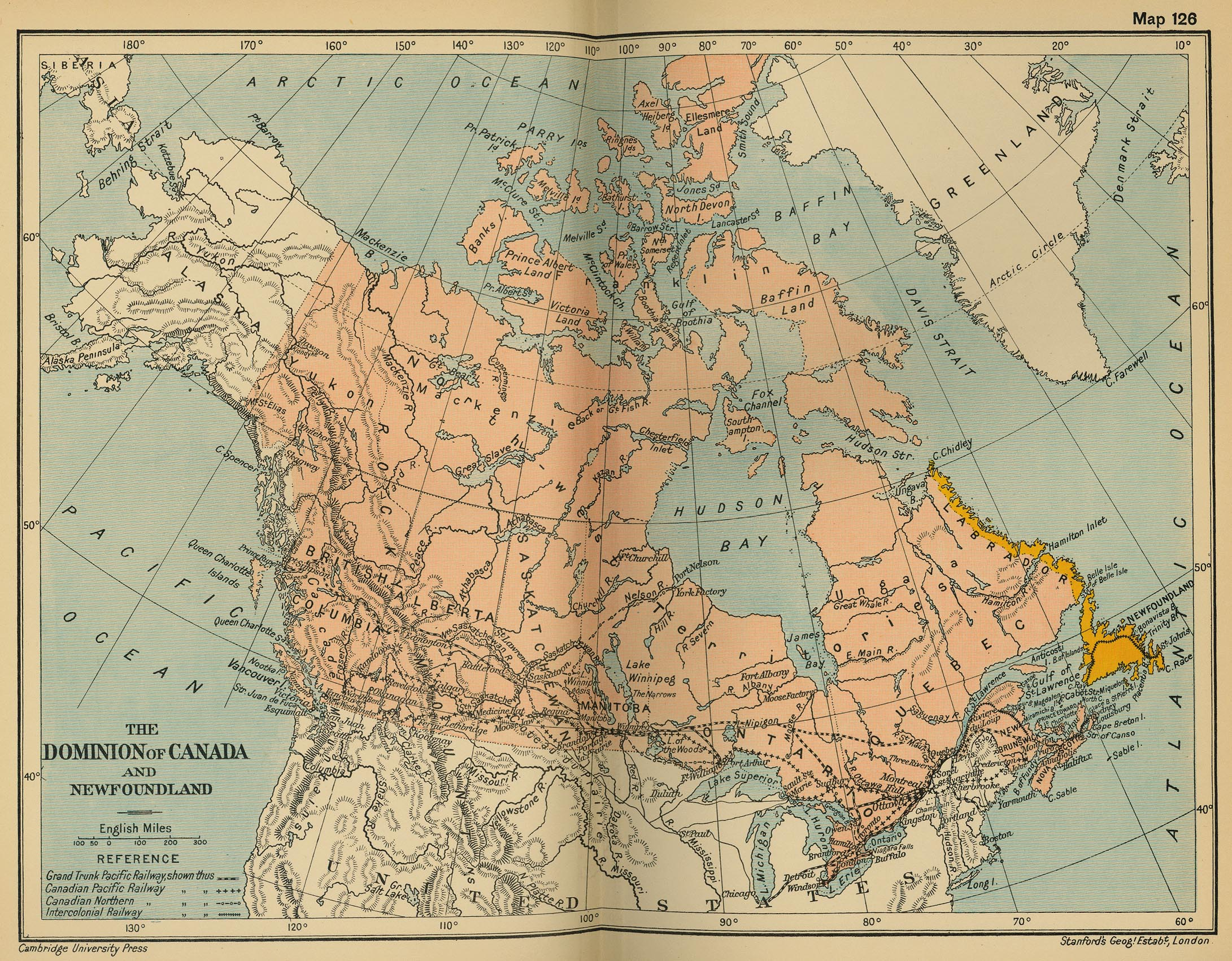 More historical maps of canada the dominion of canada and newfoundland cambridge modern history atlas gumiabroncs Images