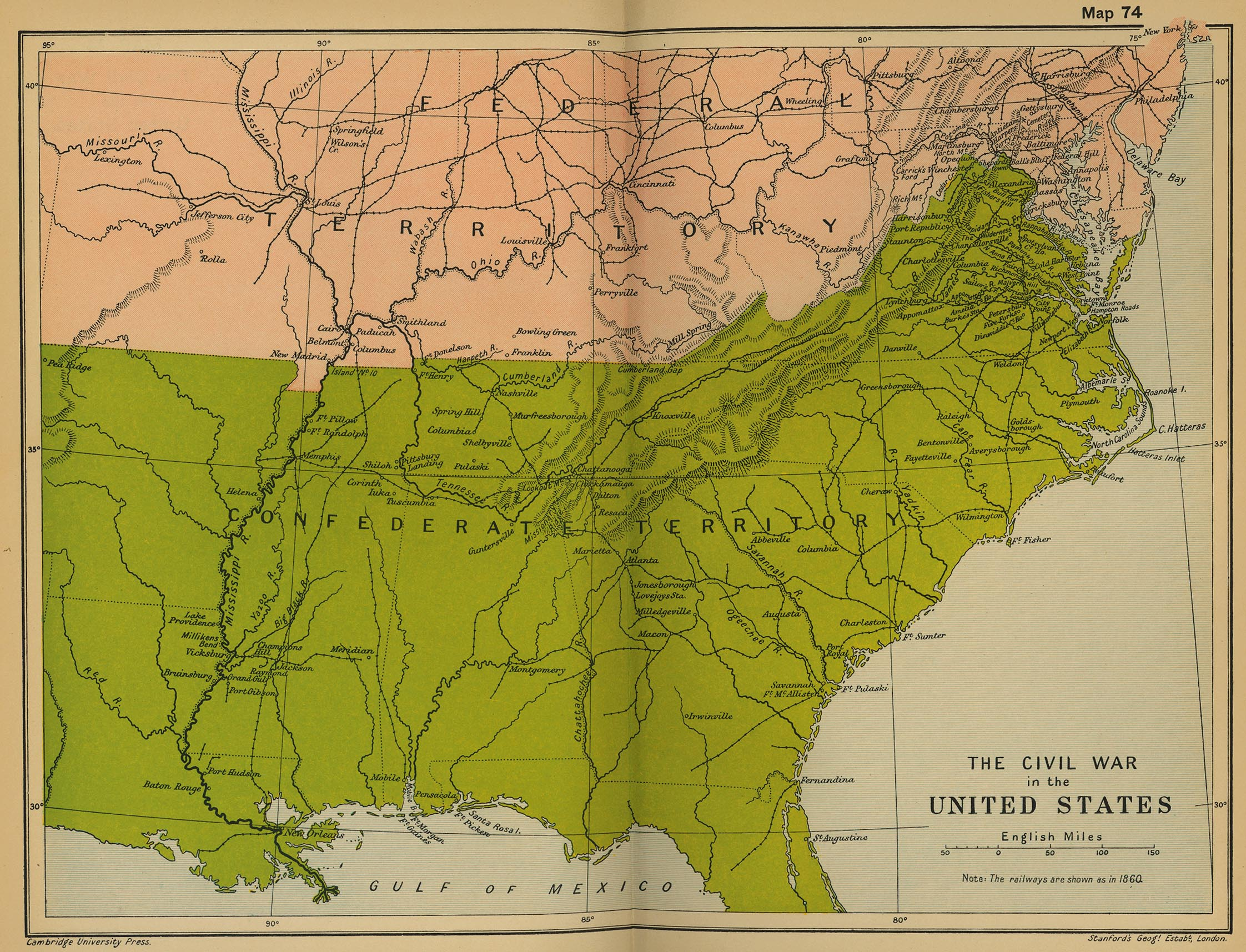 map 73 the civil war in the united states