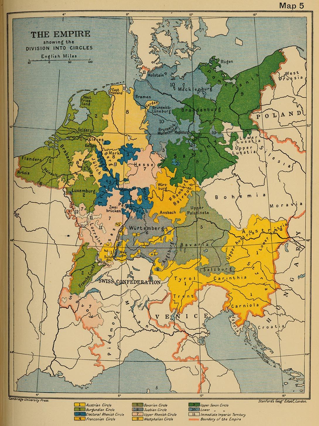 Cambridge Modern History Atlas 1912 - Perry-Castañeda Map Collection