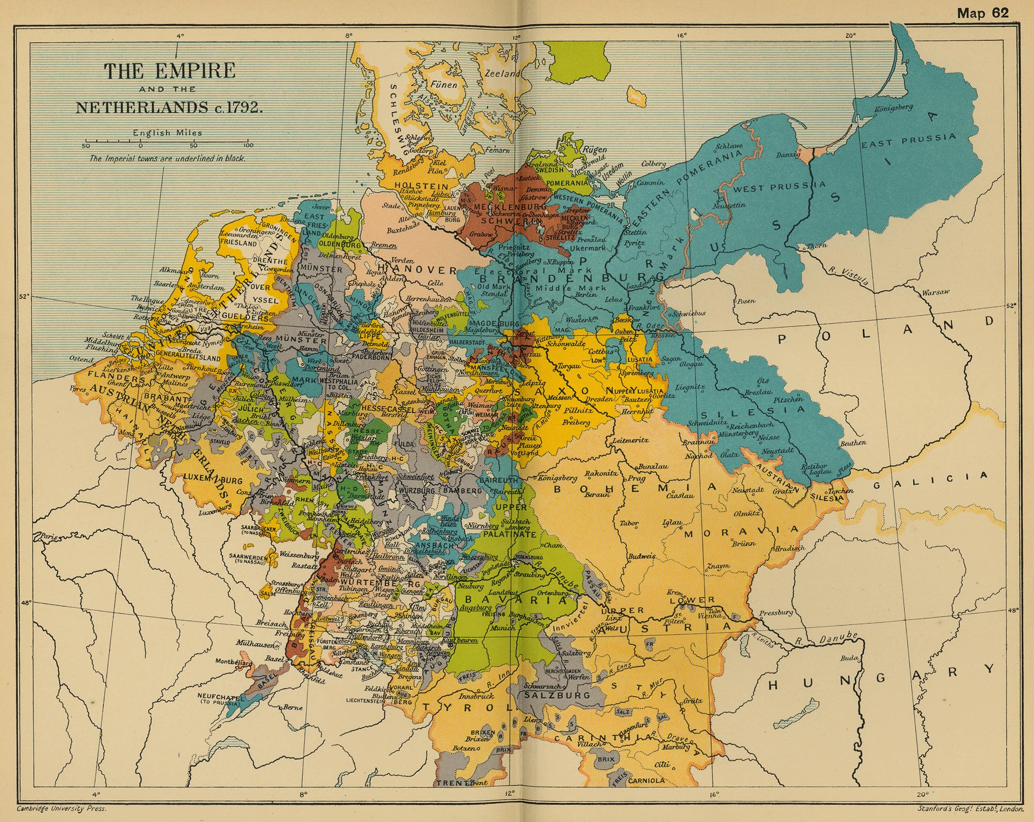 Historical Maps Of Germany - Holy see map hd