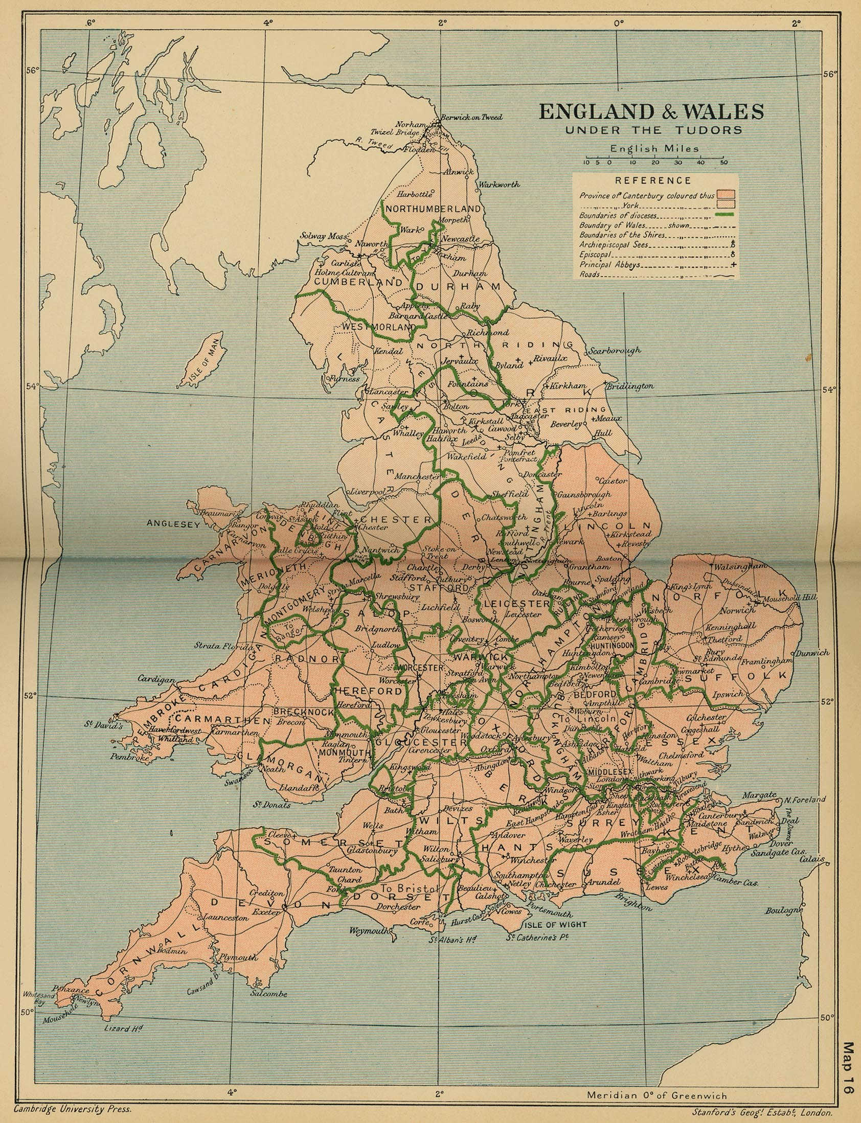 Historical Maps Of The British Isles - London map 1600