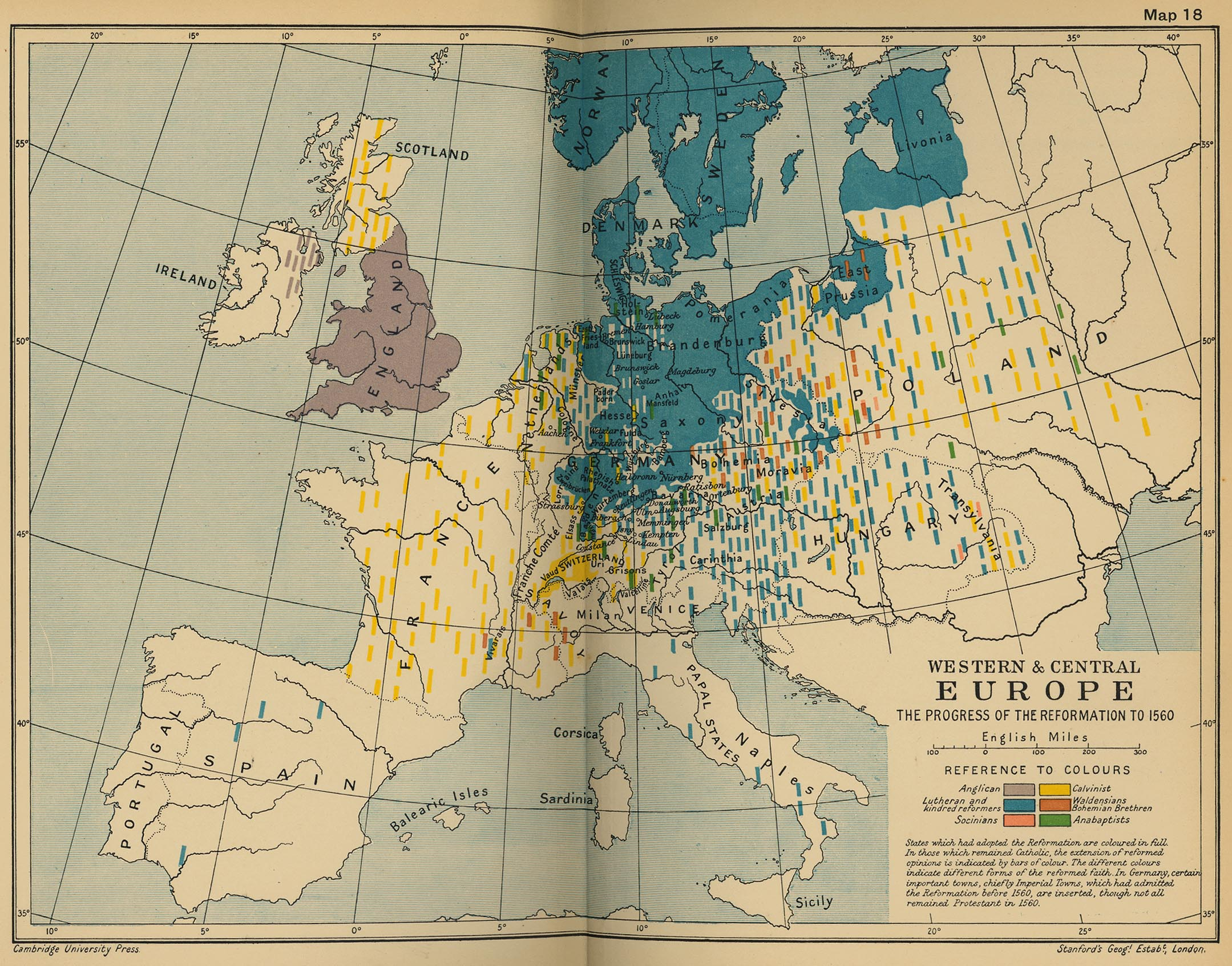 Cambridge Modern History Atlas 1912  PerryCastaeda Map