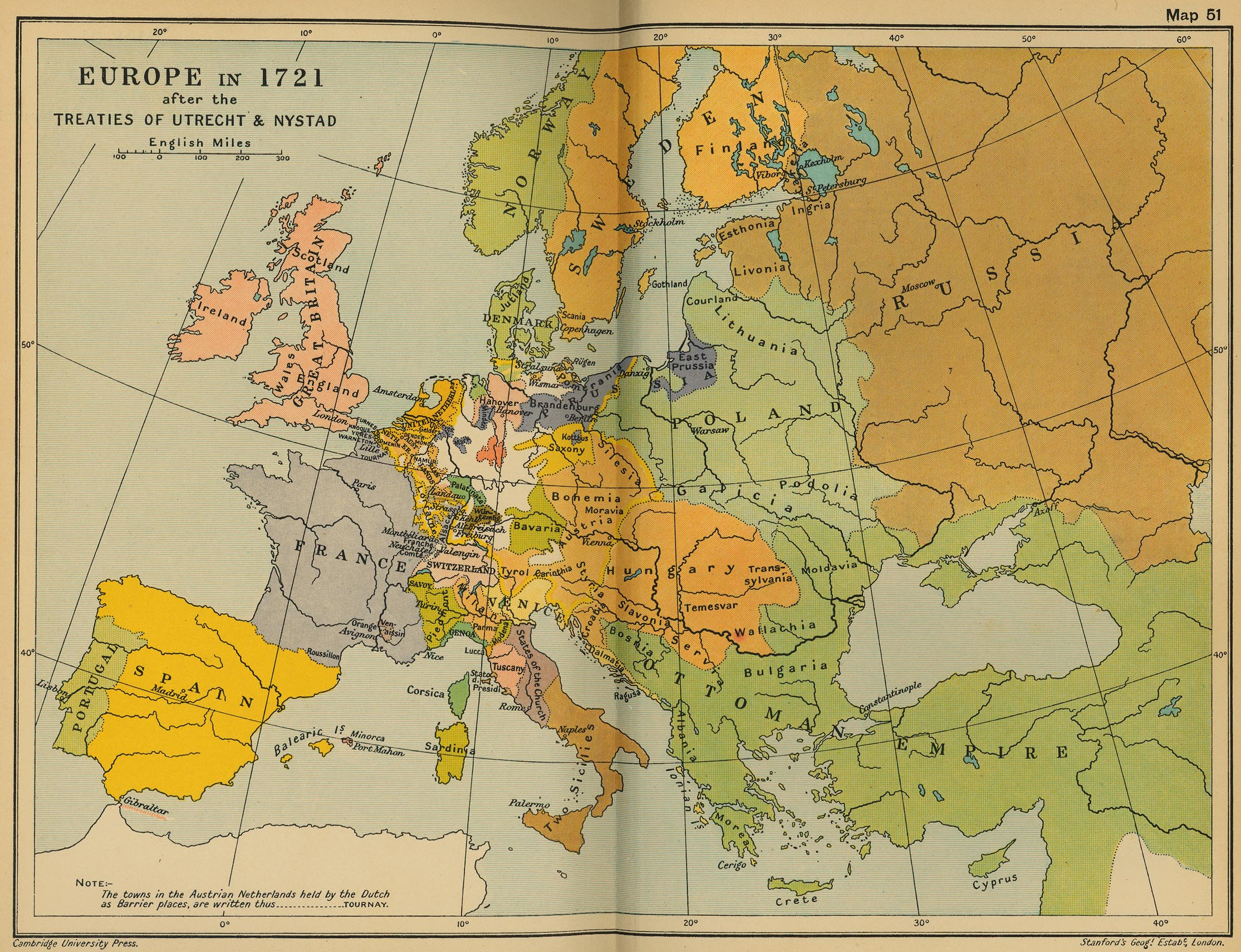 Map Of Europe 1780.Cambridge Modern History Atlas 1912 Perry Castaneda Map Collection