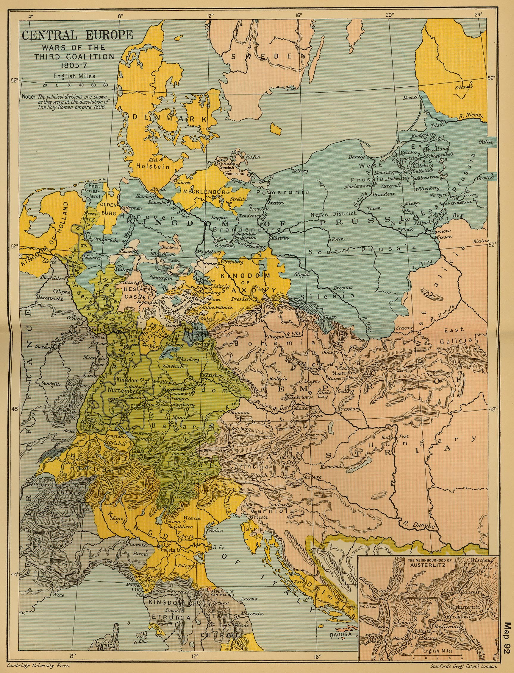 Central Germany Map.Historical Maps Of Germany