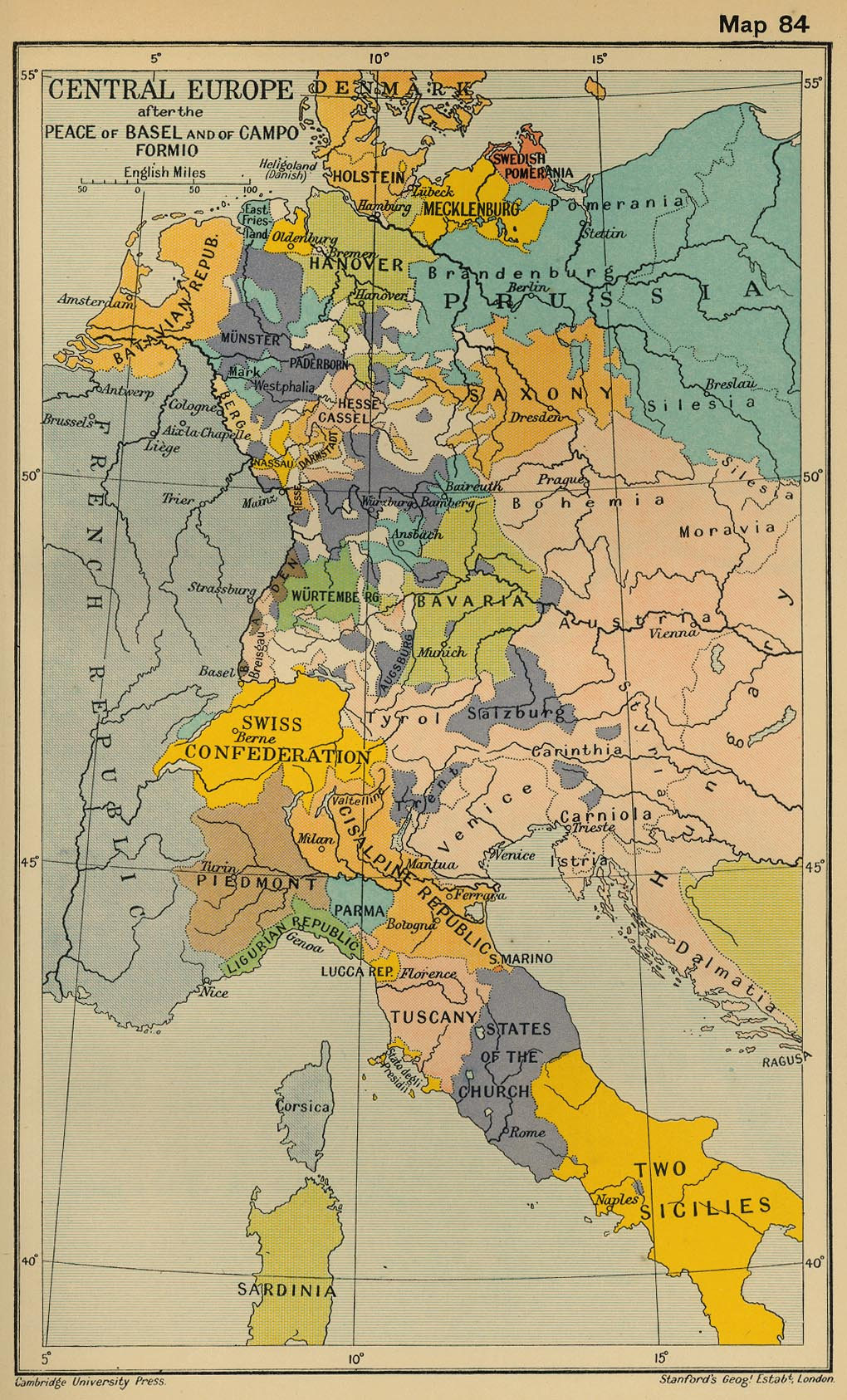 central europe after the peace of basel and of campo formio