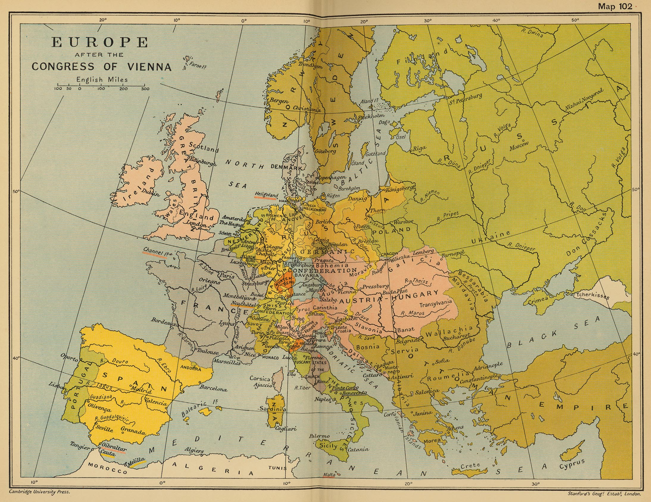 Historical maps of europe europe after the congress of vienna gumiabroncs Choice Image