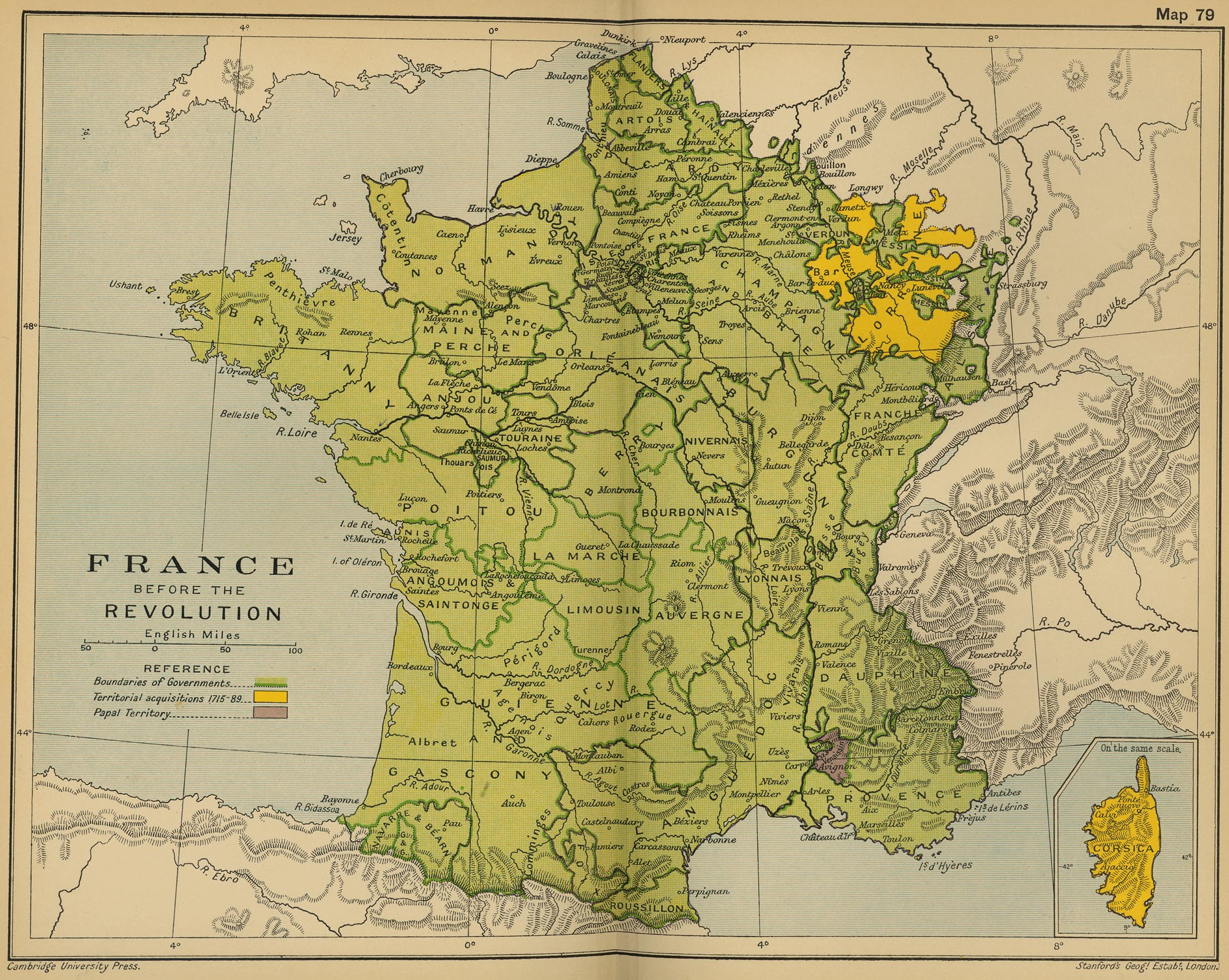 Historical Maps Of France - Map of us holdings 1912
