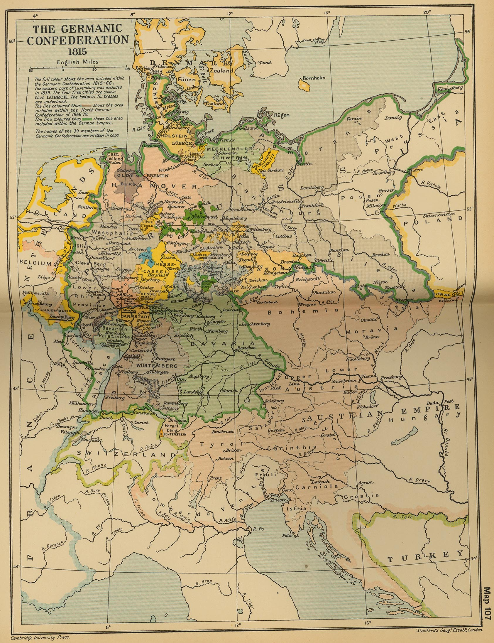 Map Of Germany 1871.Historical Maps Of Germany