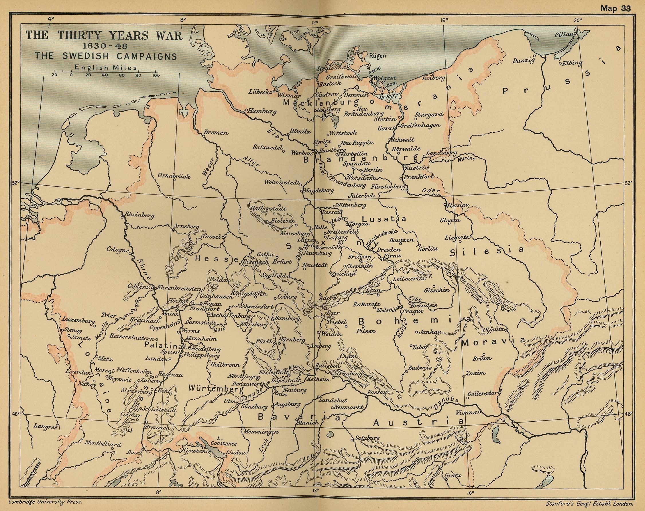 Cambridge Modern History Atlas PerryCastañeda Map - Germany map by year