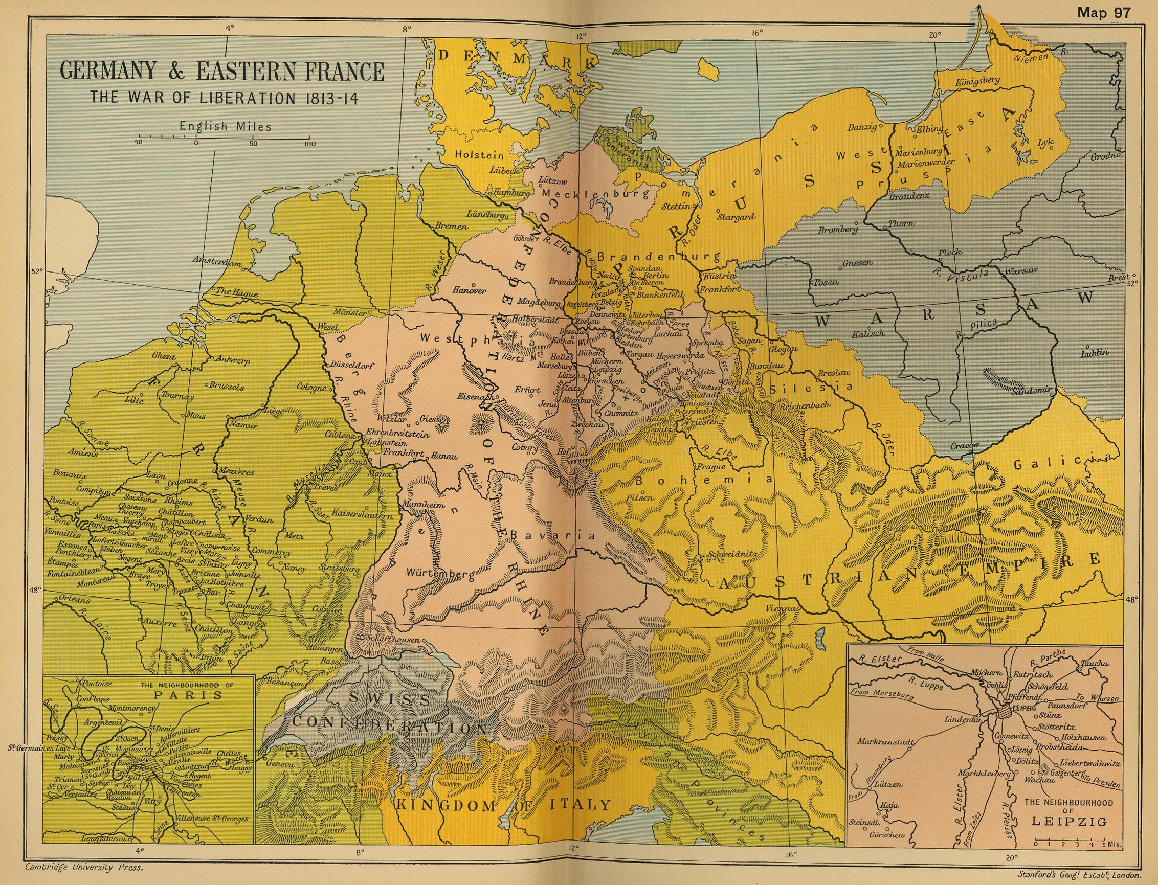 Historical Maps Of Germany - Germany map in europe