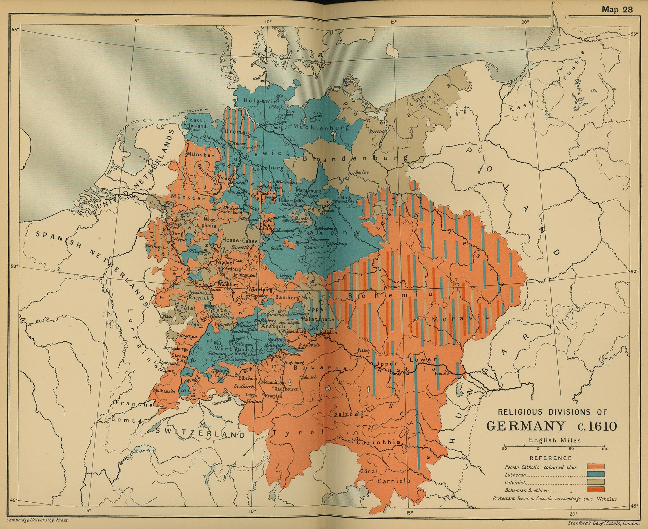 map 27 religious divisions of germany c