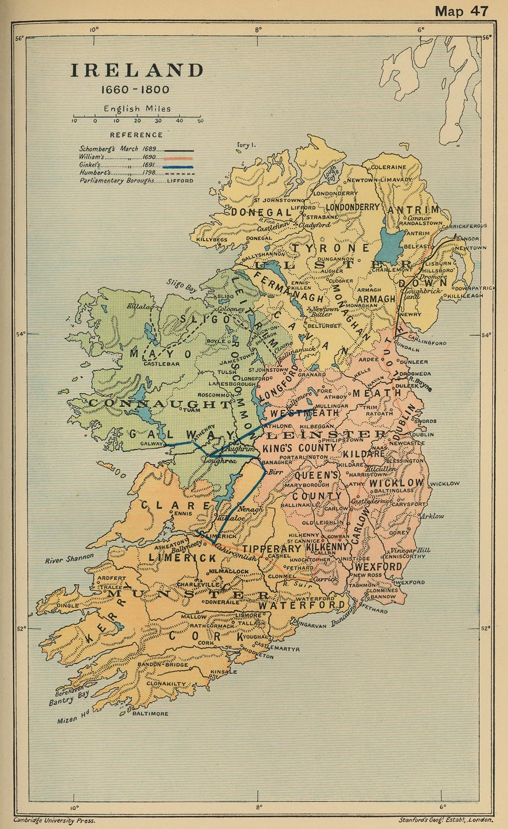 Map Of Ireland Historical Sites.Cambridge Modern History Atlas 1912 Perry Castaneda Map Collection