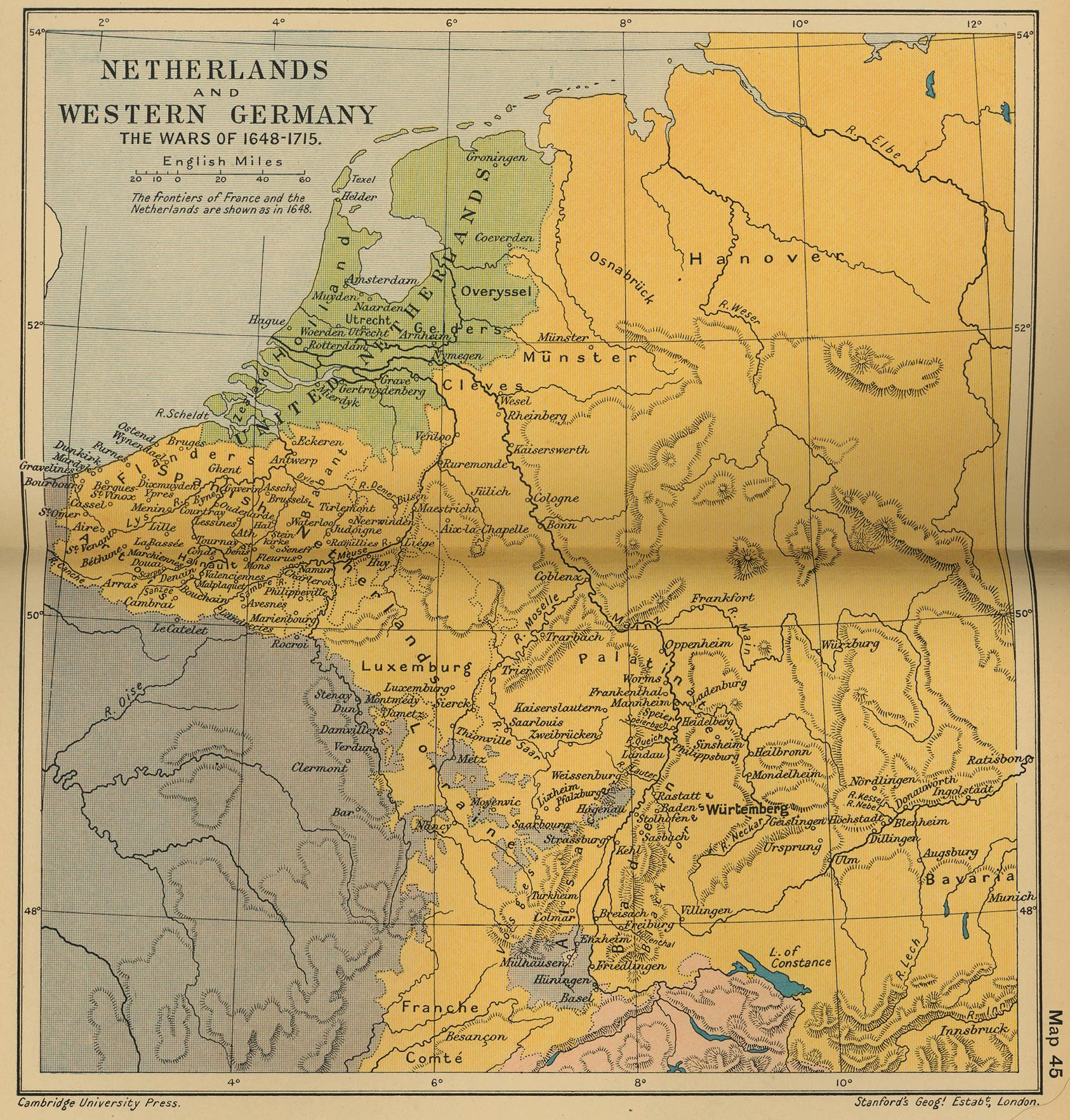Map Of North West Germany.Historical Maps Of Germany