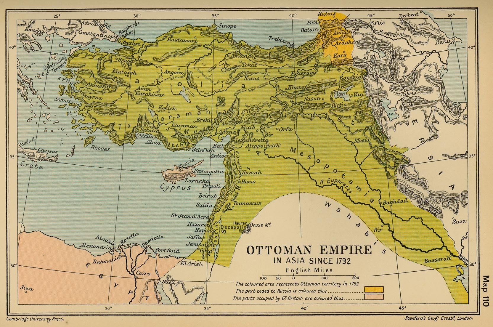Ottoman Empire in 1792, map from Univ. of Texas library