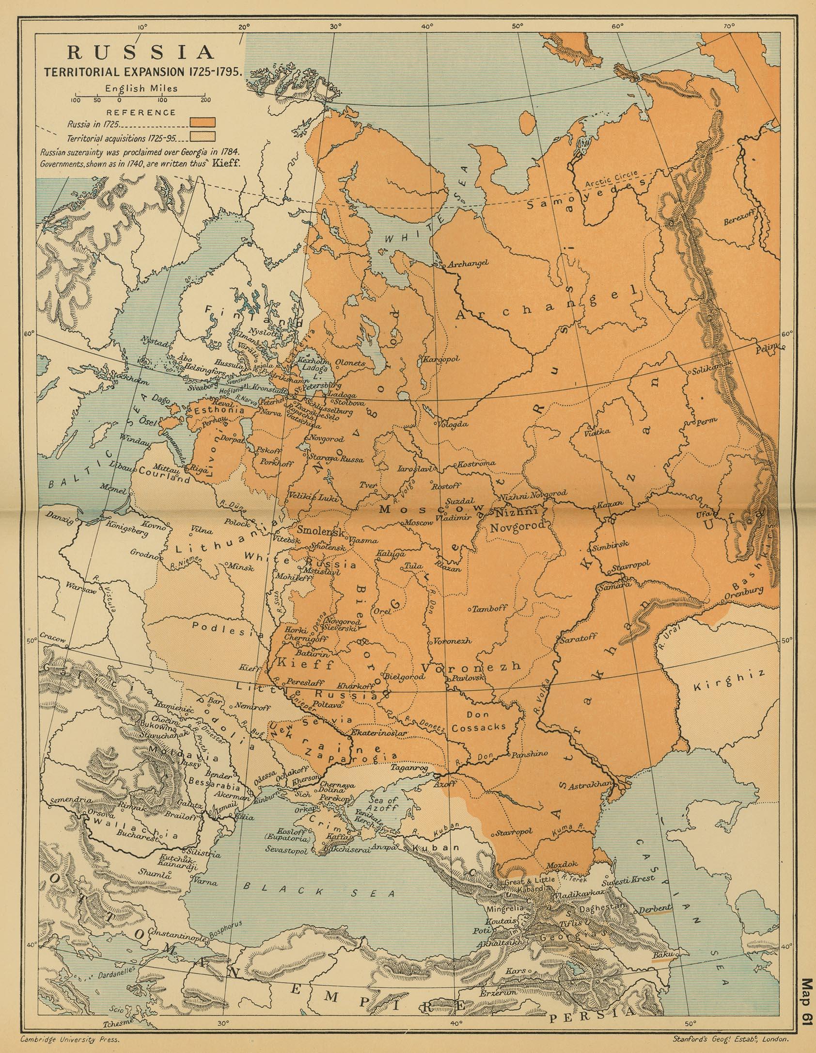 Cambridge Modern History Atlas  PerryCastañeda Map - Us map expansion