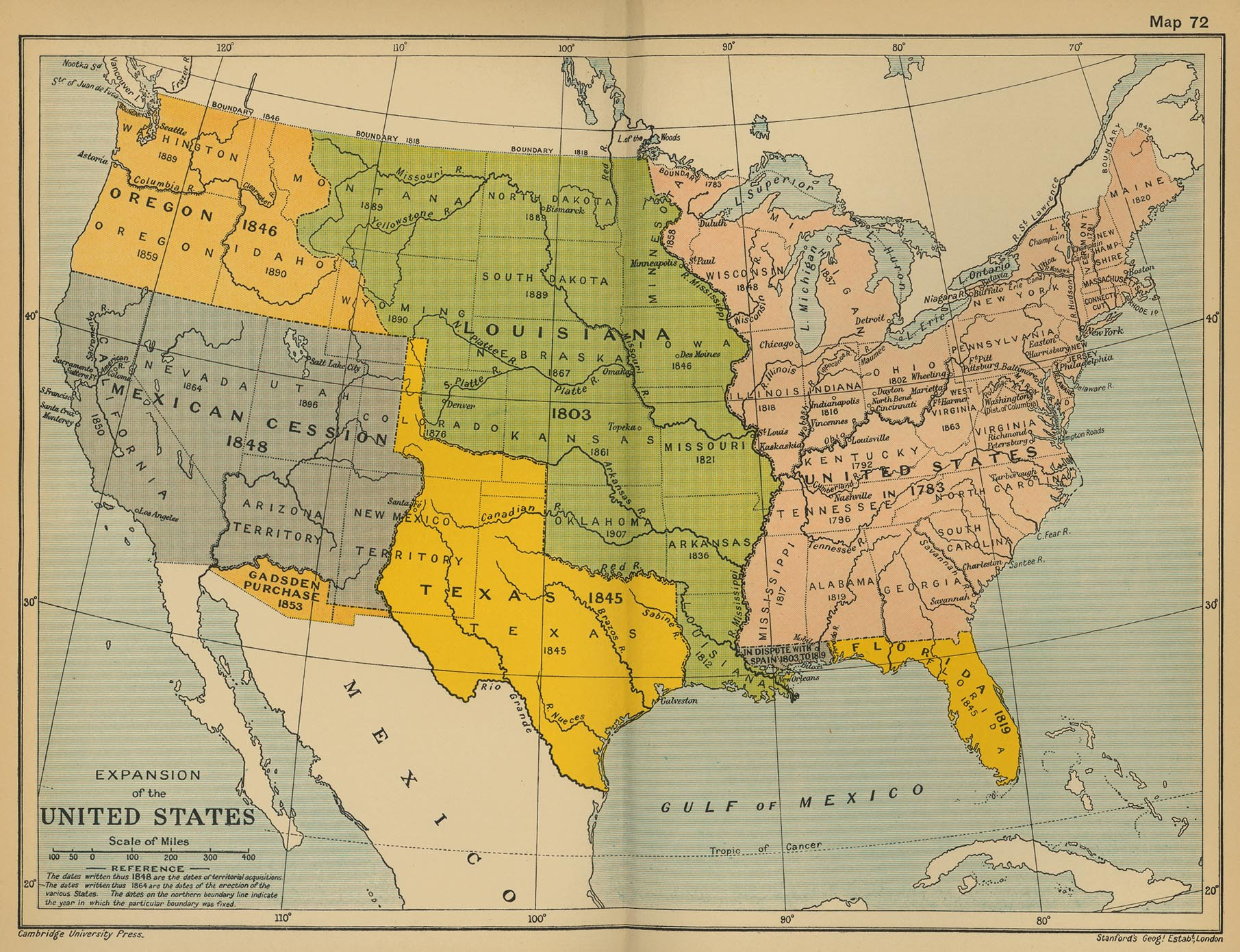 Growth of a Nation – Manifest Destiny Map Worksheet