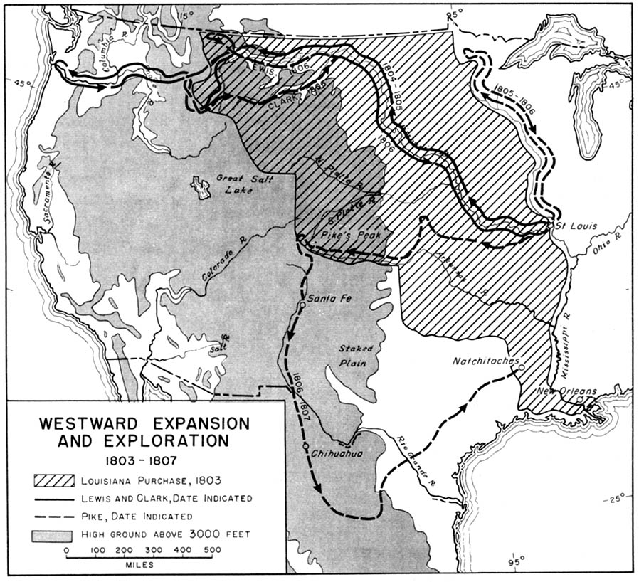 westward expansion and exploration 1803 1807 from american