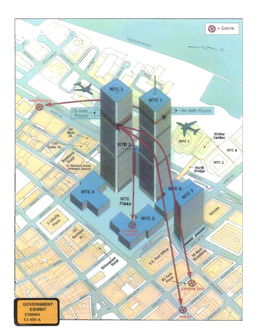 new yorkinternet archive map of the world trade center area depicting the paths of flights 11 and 175