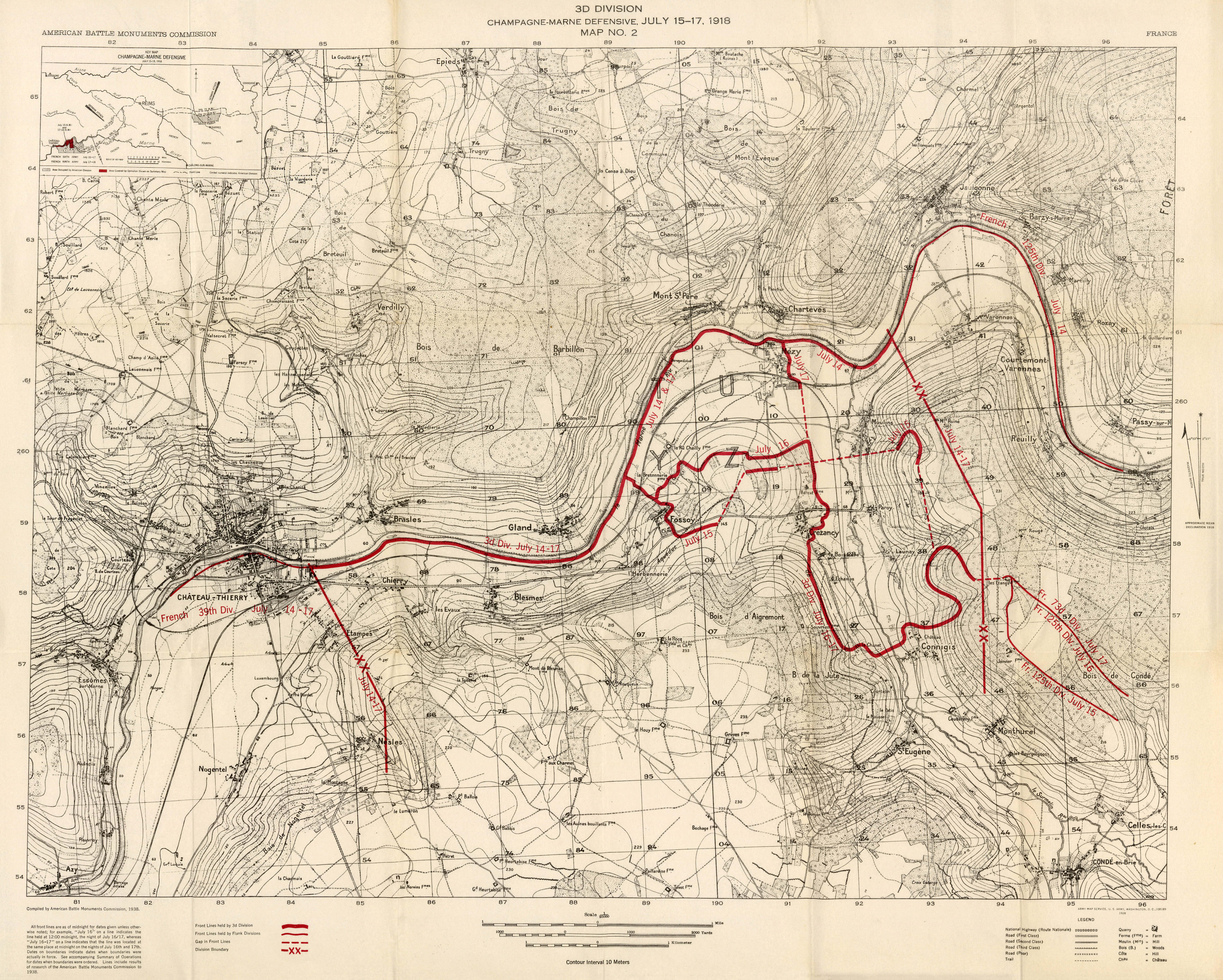 Summary of operations in the world war perry casta eda for Champagne marne