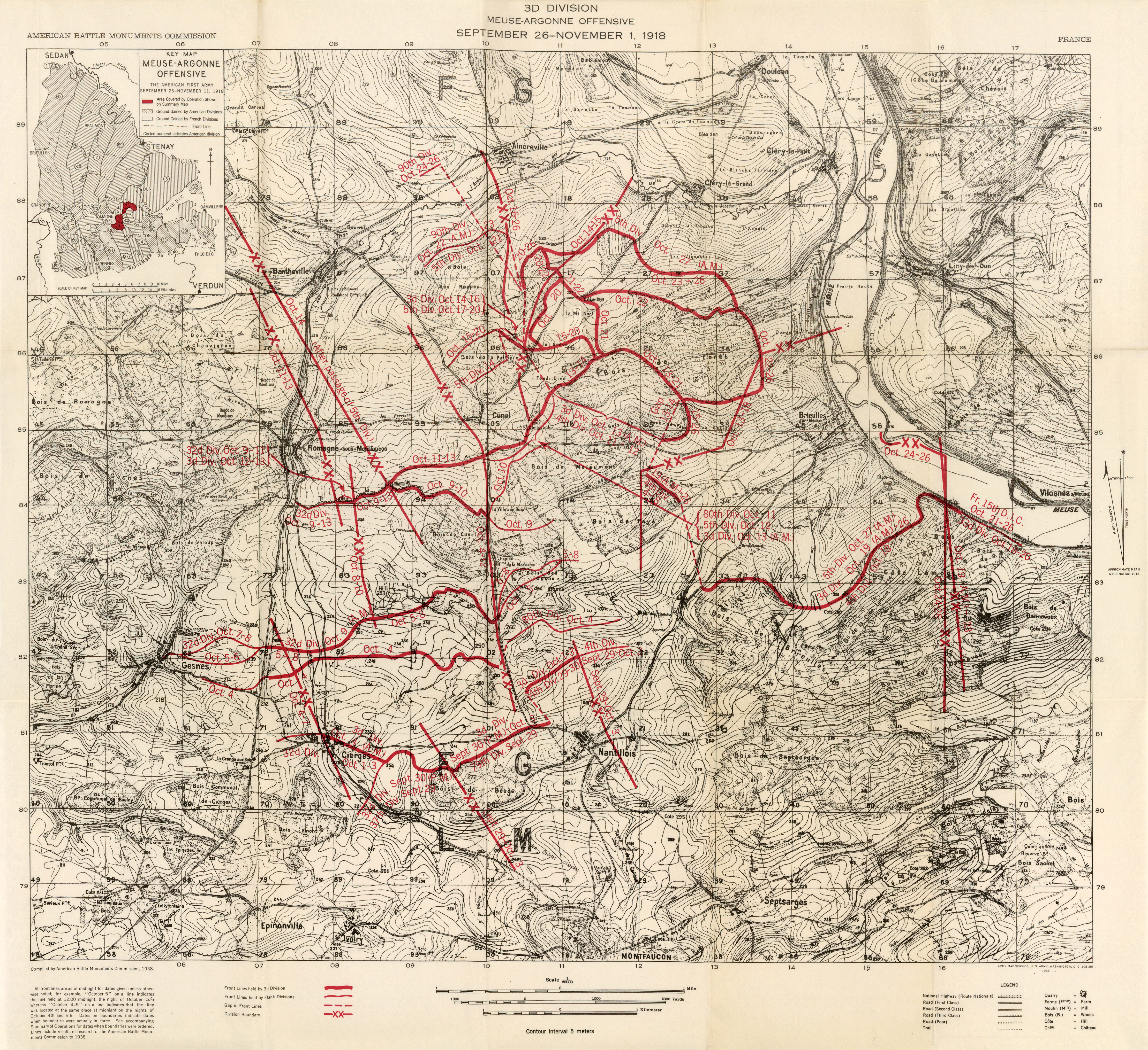 Summary of operations in the world war perry castaeda map 3rd division meuse argonne offensive september 26 november 1 gumiabroncs Image collections