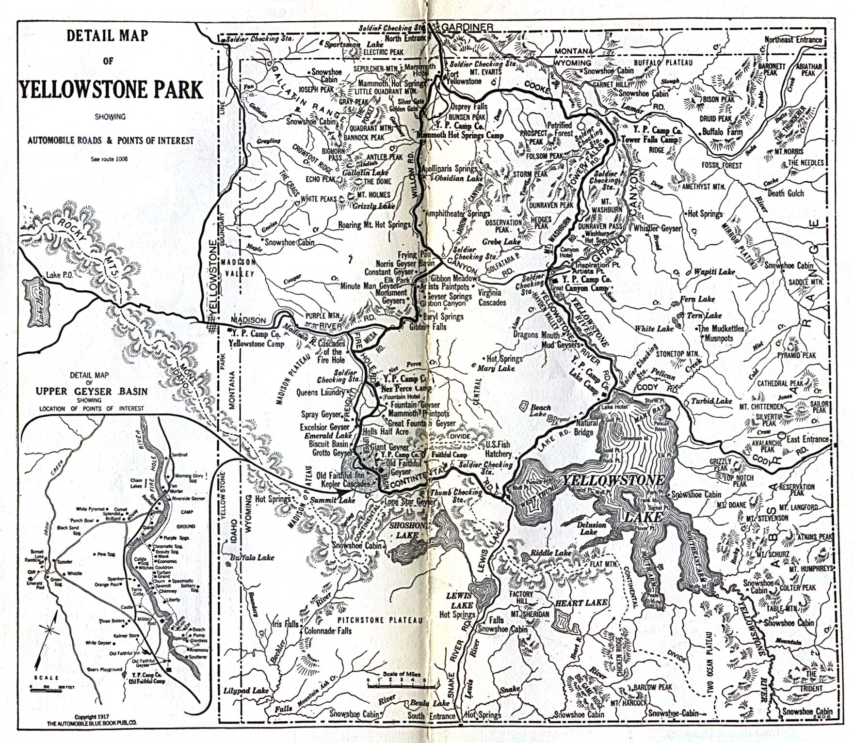 1Up Travel Historical Maps of United StatesYellowstone National