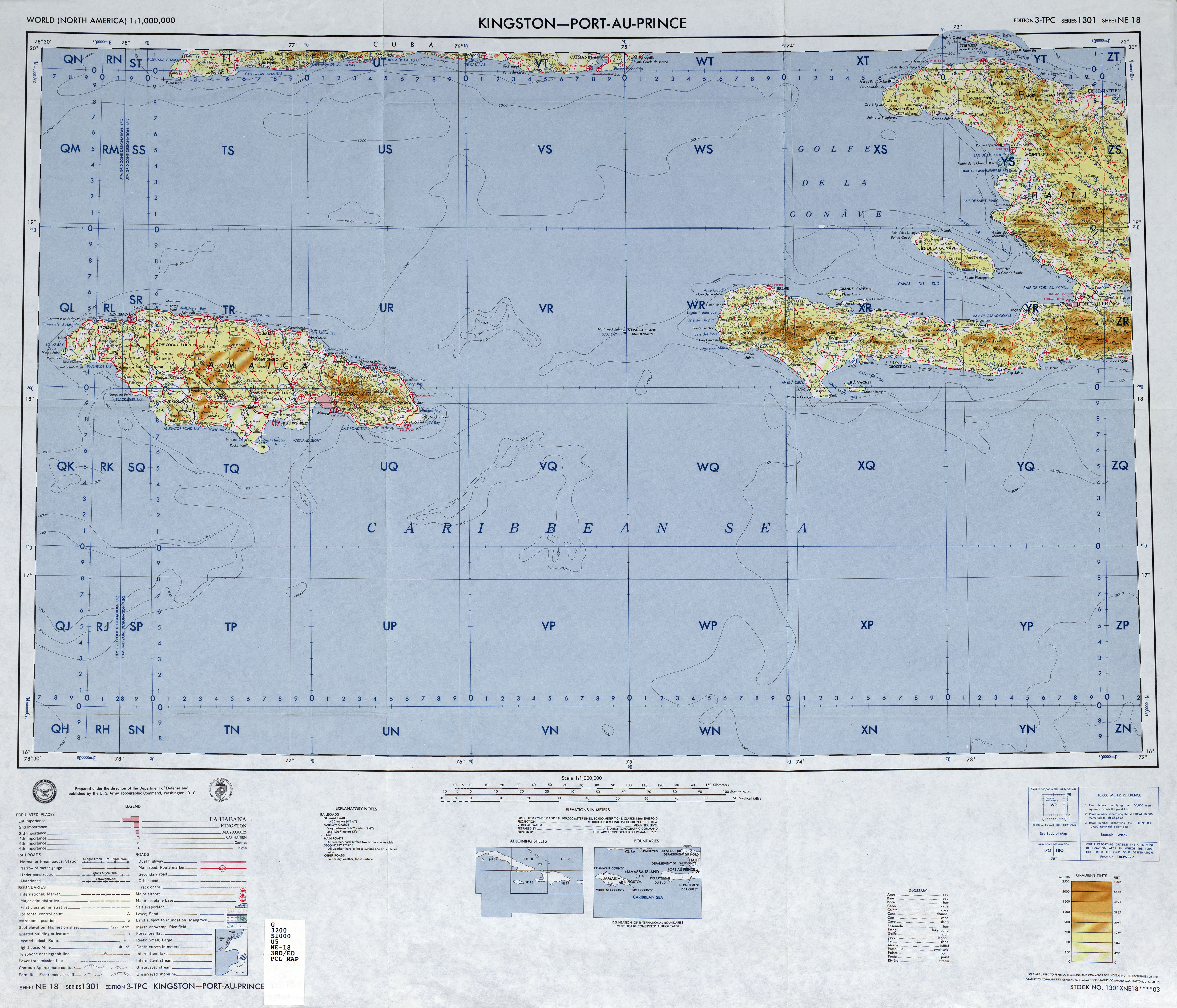International Map Of The World PerryCastañeda Map Collection - Haiti clickable map