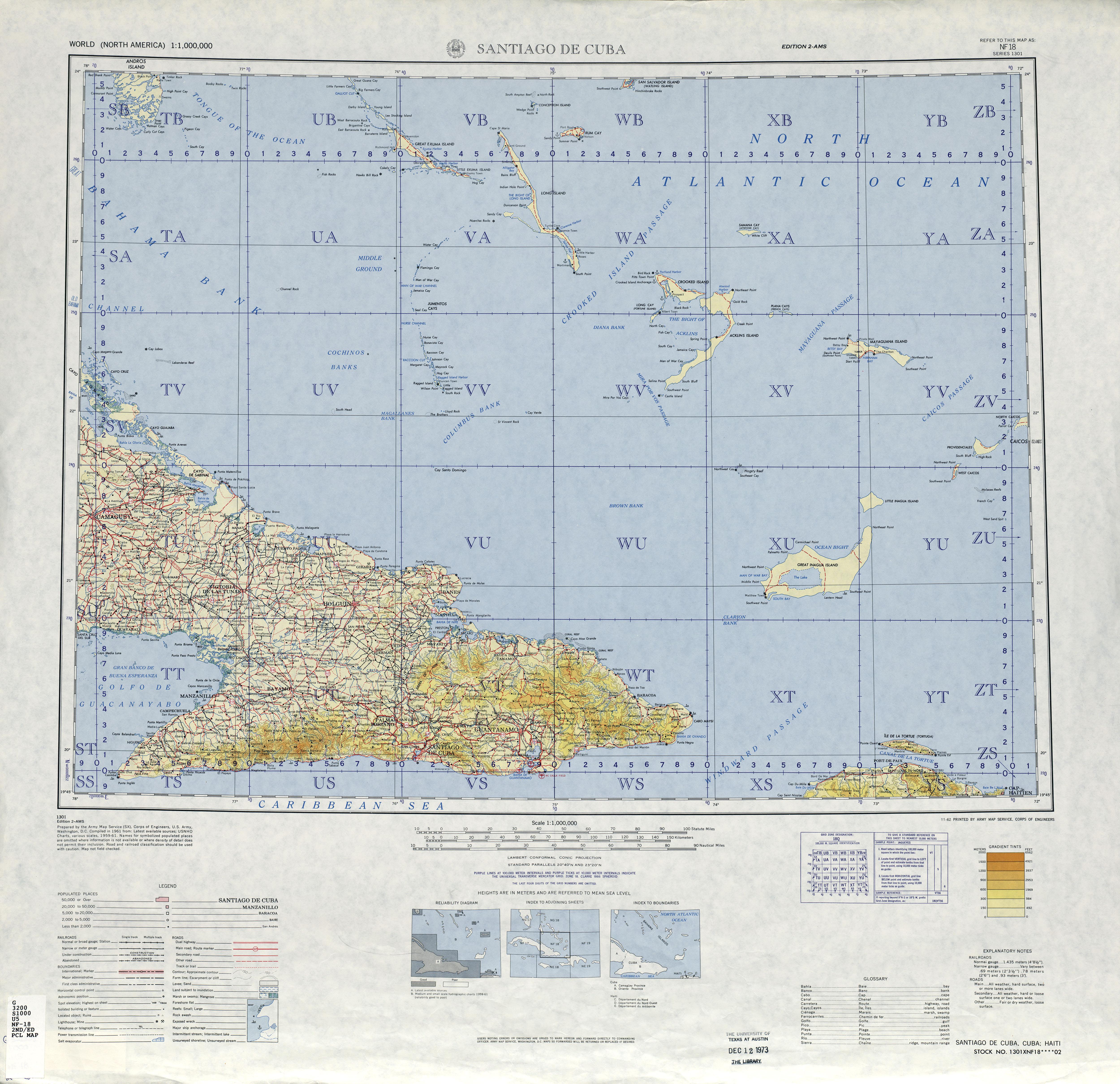 Ne 18 Kingston Port Au Prince Jamaica Navassa Island U S Haiti Cuba Series 1301 Edition 3 Tpc