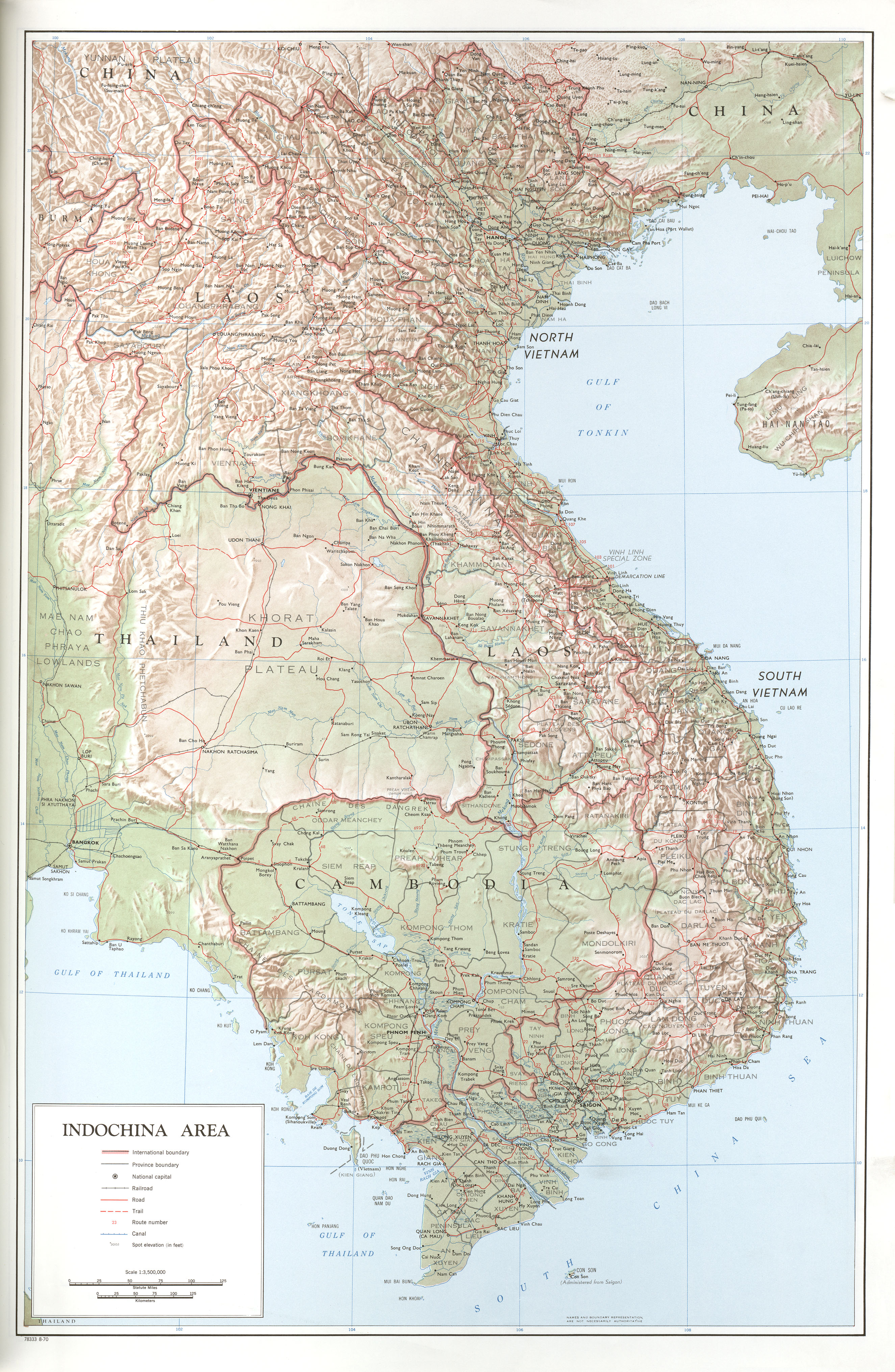 Thailand Topographic Map.Map Collection Of Asia Asian Studies Loyola University Chicago