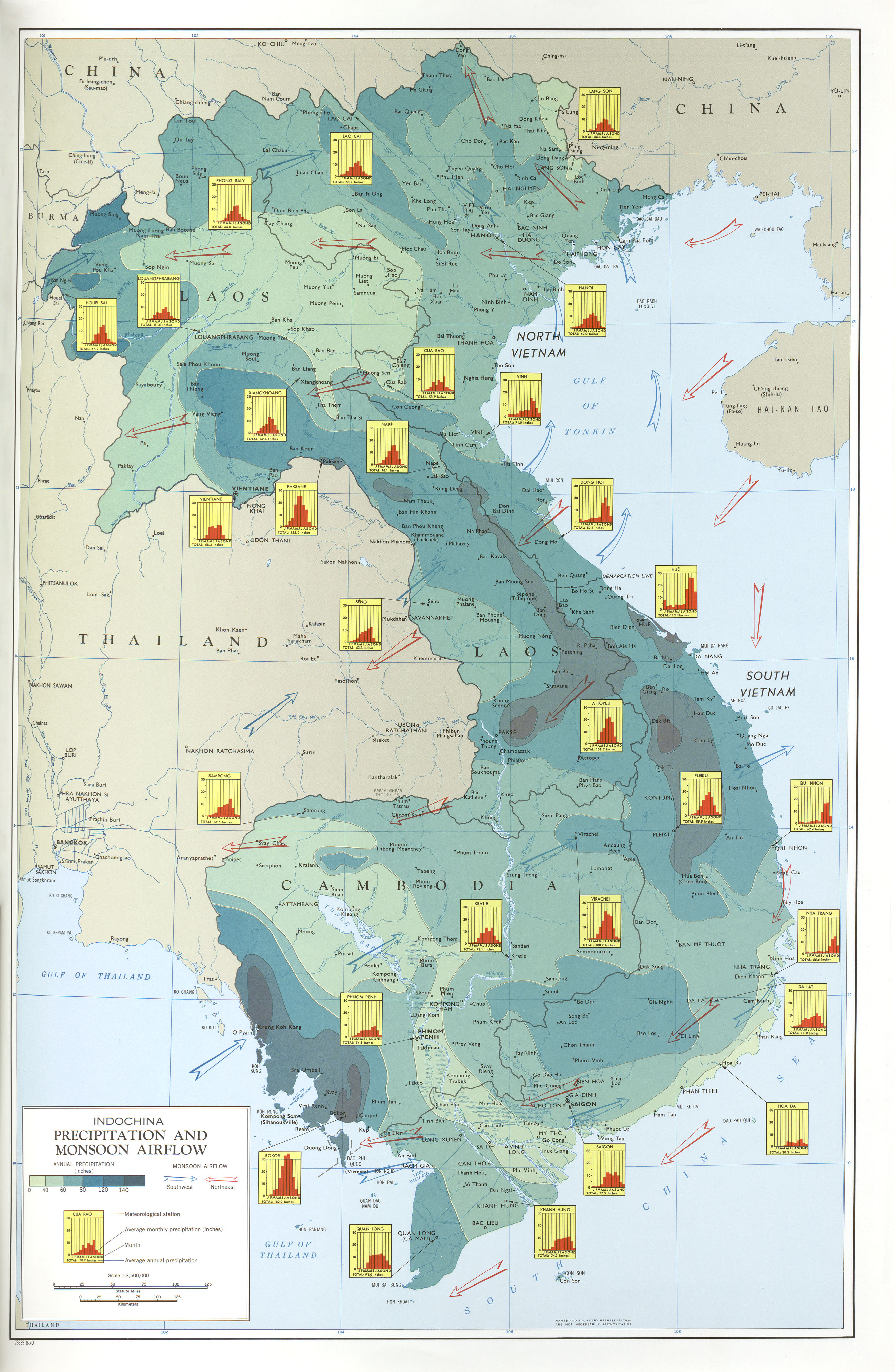 Indochina Atlas PerryCastañeda Map Collection UT Library Online - Online atlas