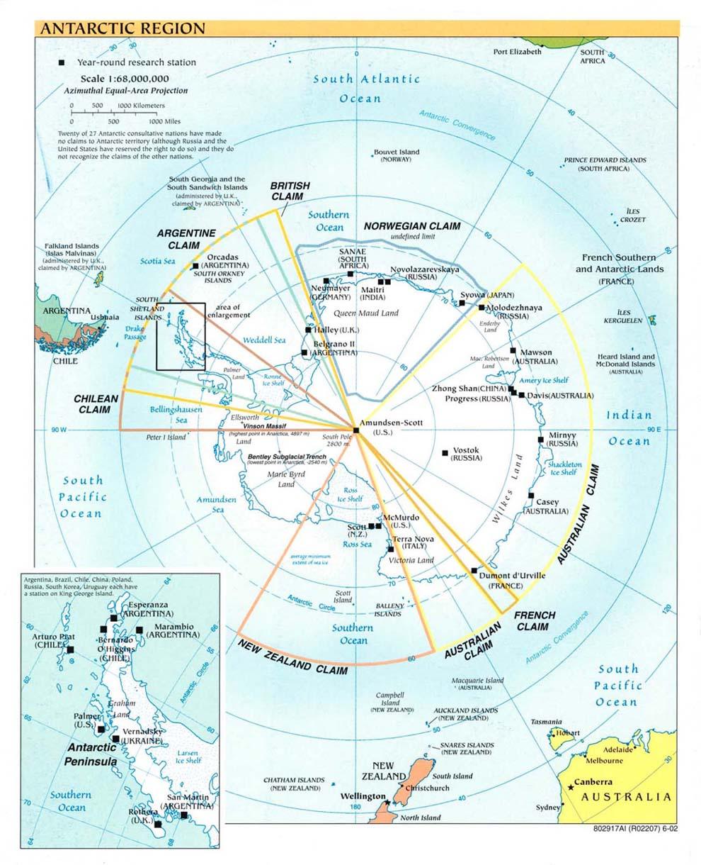 Polar Regions and Oceans Maps - Perry-Castañeda Map ...