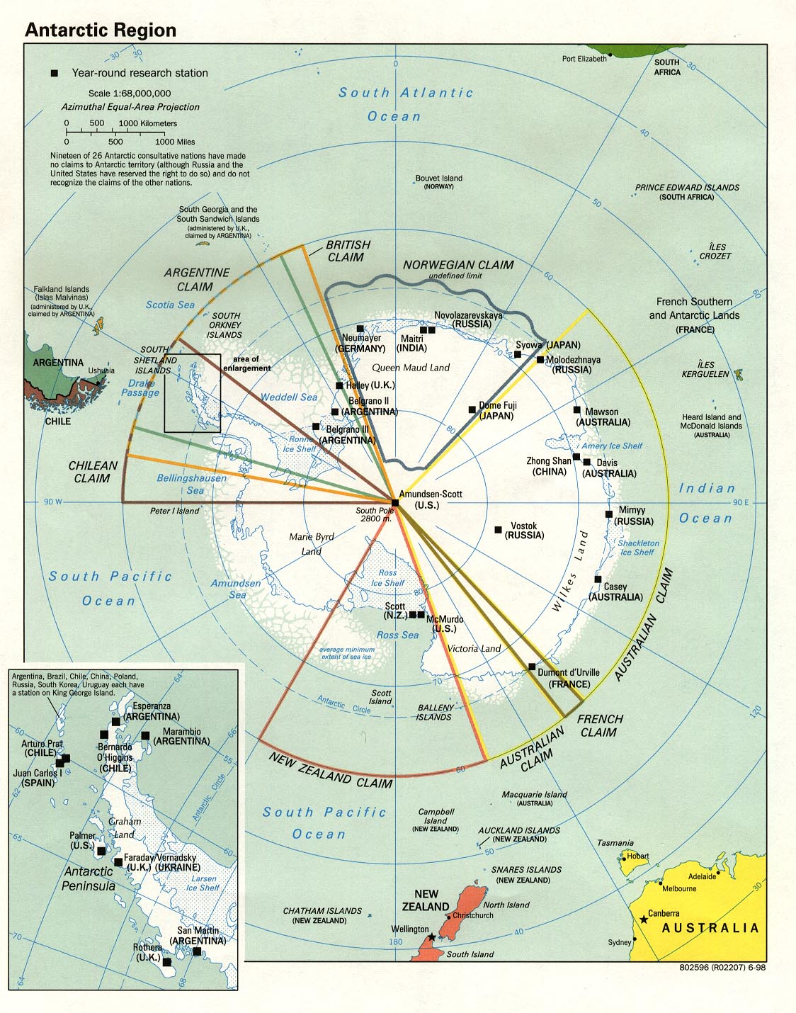 Polar Regions And Oceans Maps