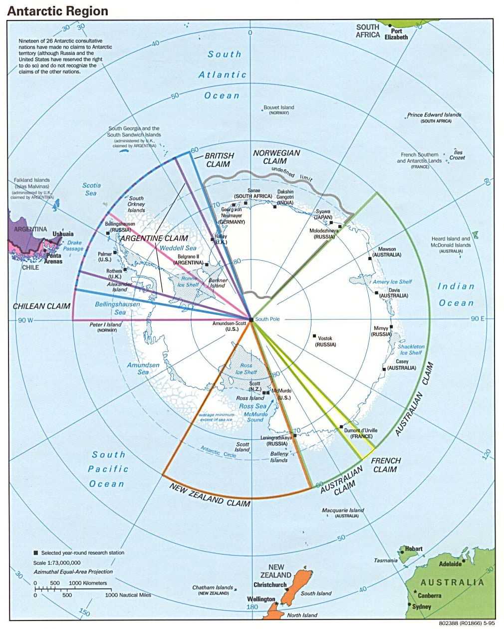 Maps Of Continents - Antarctica cities map