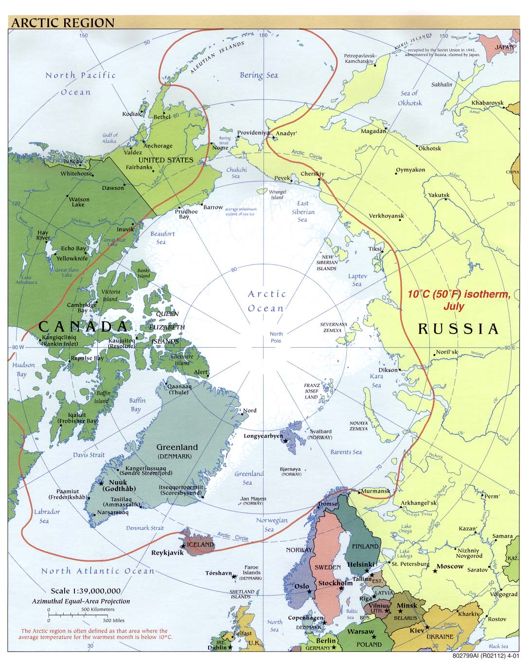 Polar regions and oceans maps perry castaeda map collection arctic region gumiabroncs Choice Image