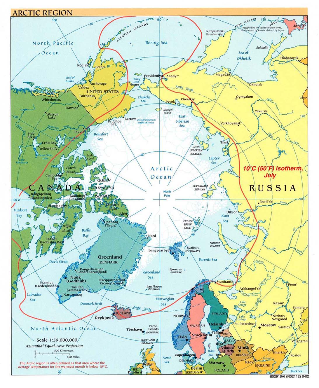 Polar regions and oceans maps perry castaeda map collection arctic region gumiabroncs Gallery
