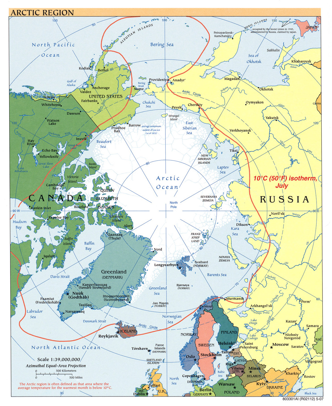 Arctic Regions Map