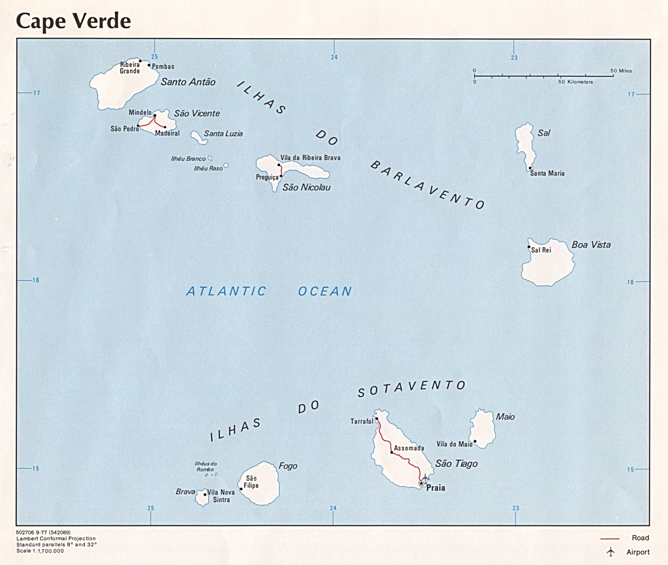 Cape Verde Maps PerryCastañeda Map Collection UT Library Online - Cape verde map