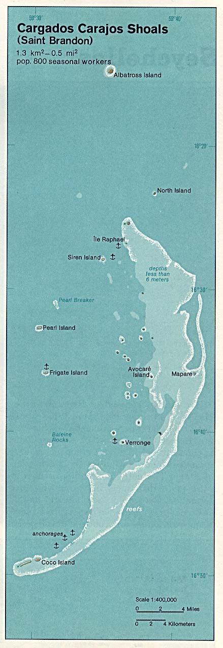 Map Of Mauritius Mauritius - Cargados Carajos Shoals (Saint Brandon) 1976 (97K)