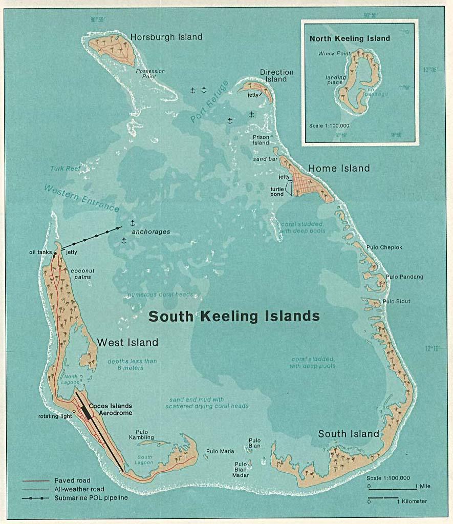 cocos keeling islands indian ocean australia