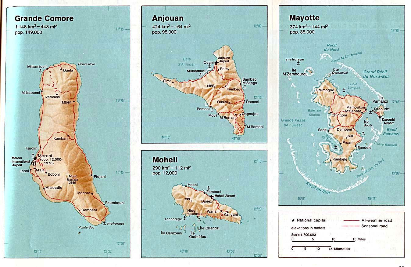 Perry castaeda library map colletion mapes maps mapas comoros grande comore anjouan moheli publicscrutiny Choice Image