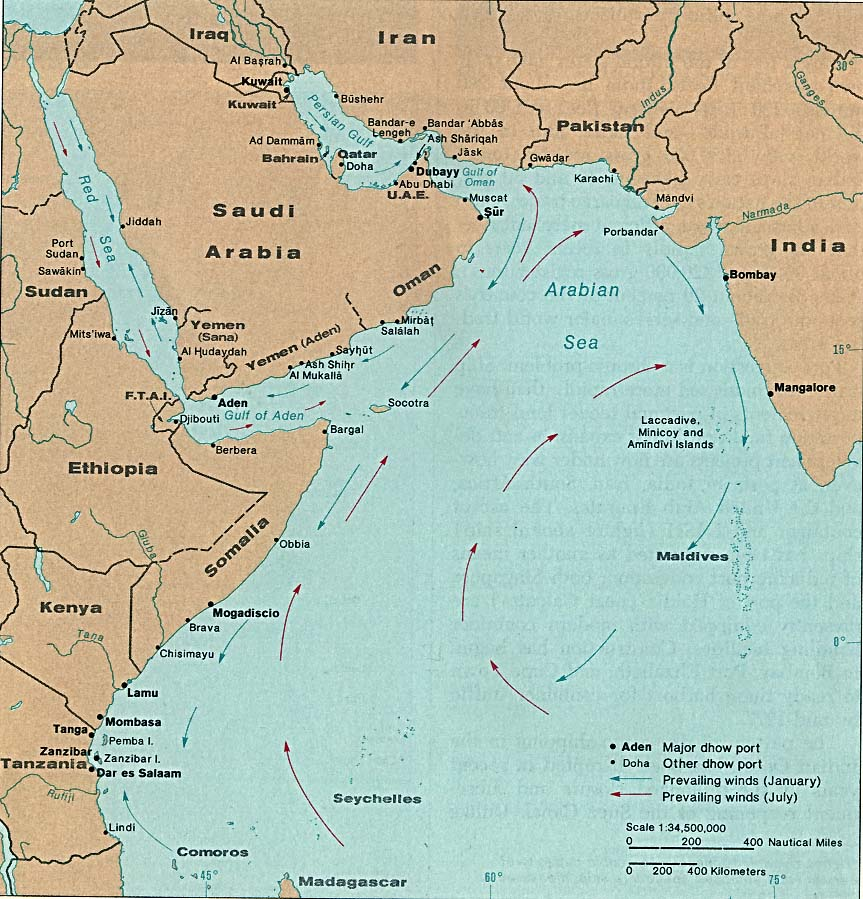 Indian ocean maps perry castaeda map collection ut library online indian ocean dhow ports publicscrutiny Image collections