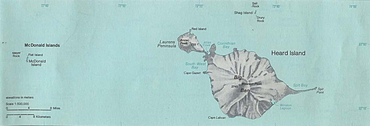 political map of caribbean islands. SEE MAP Heard Island