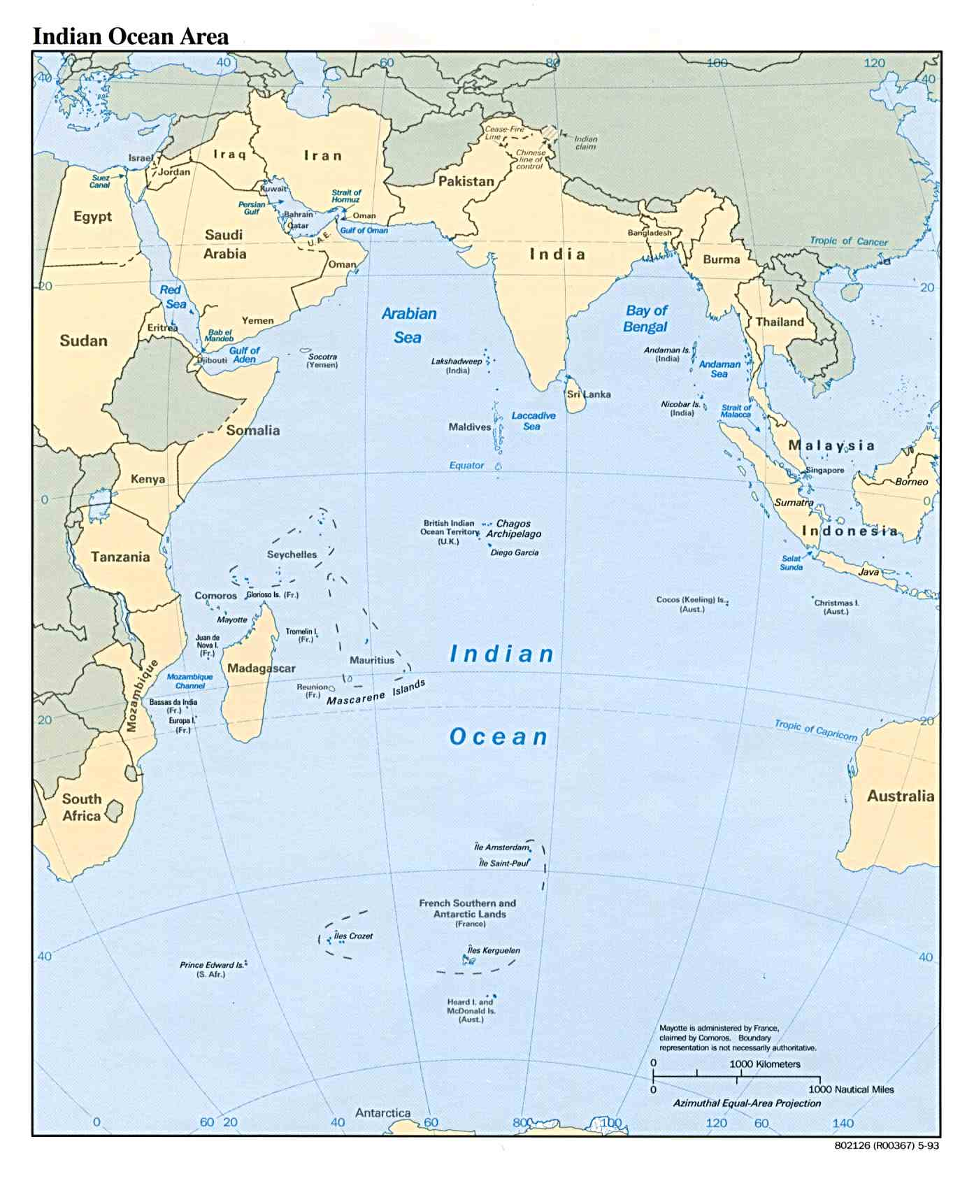 Indian ocean maps perry castaeda map collection ut library online indian ocean maps gumiabroncs Choice Image