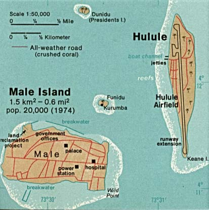Maldives Maps PerryCastañeda Map Collection UT Library Online - male map