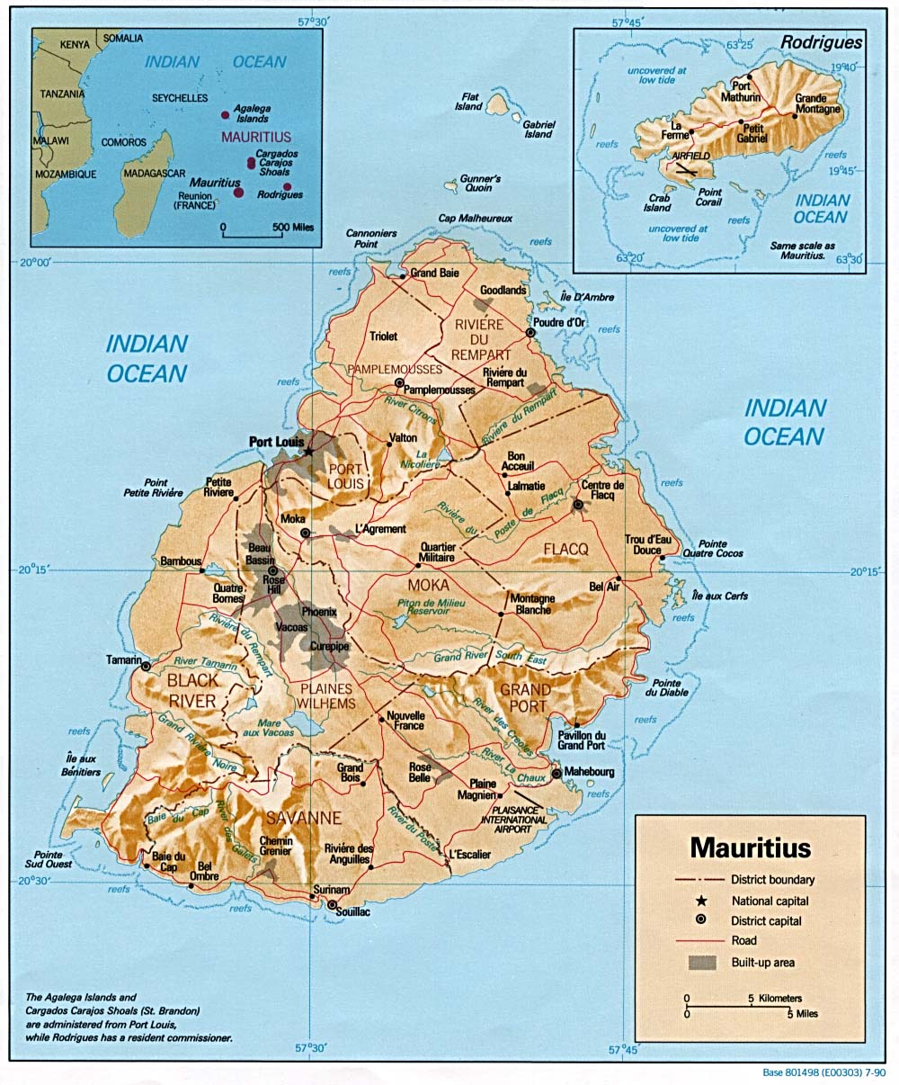 Mauritius Maps PerryCastañeda Map Collection UT Library Online - Detailed map of mauritius