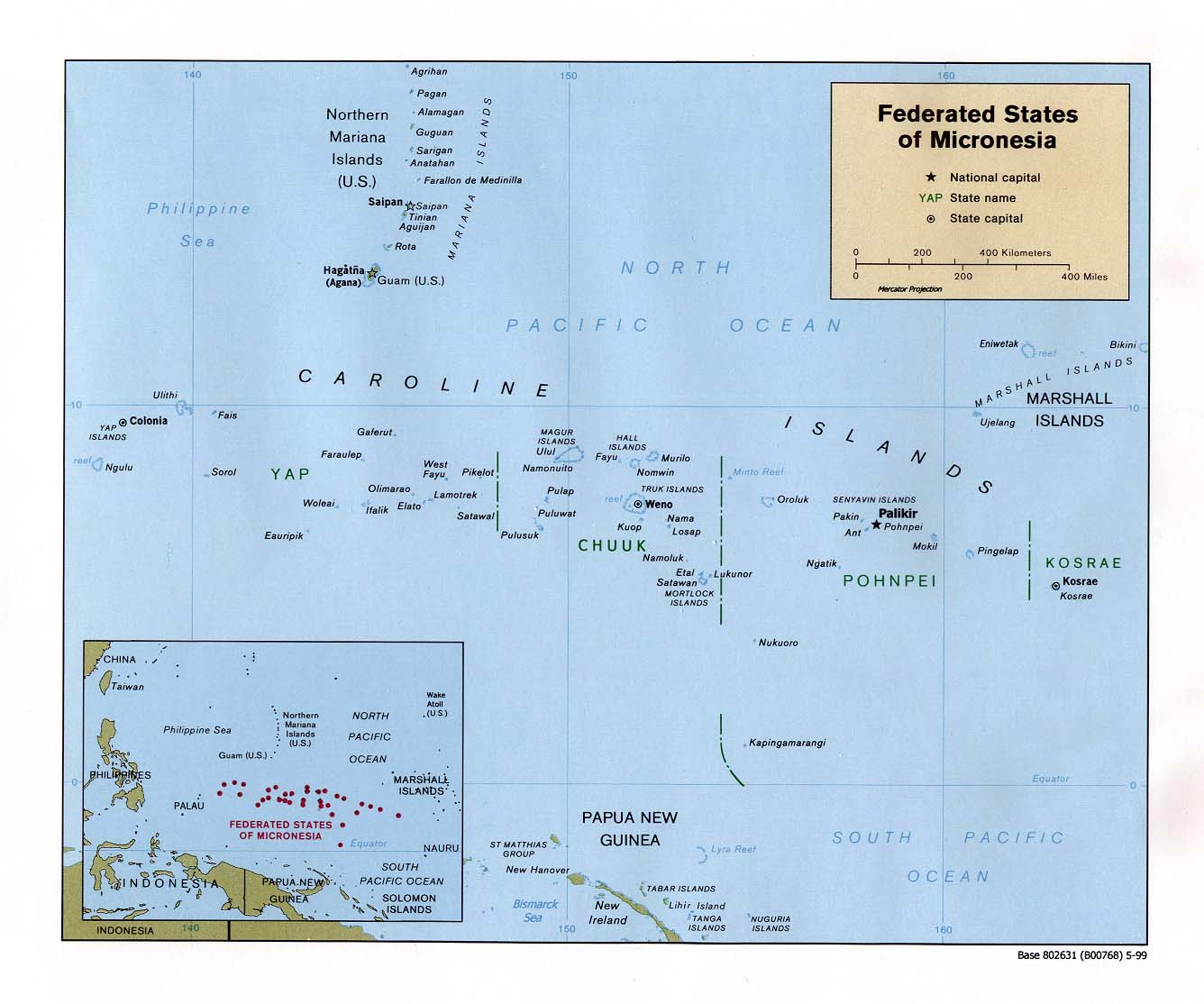 Micronesia maps perry castaeda map collection ut library online federated states of micronesia maps publicscrutiny Images