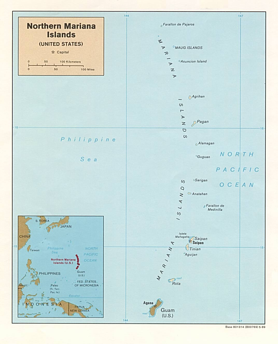 Northern Mariana Islands Maps   Perry Castañeda Map Collection
