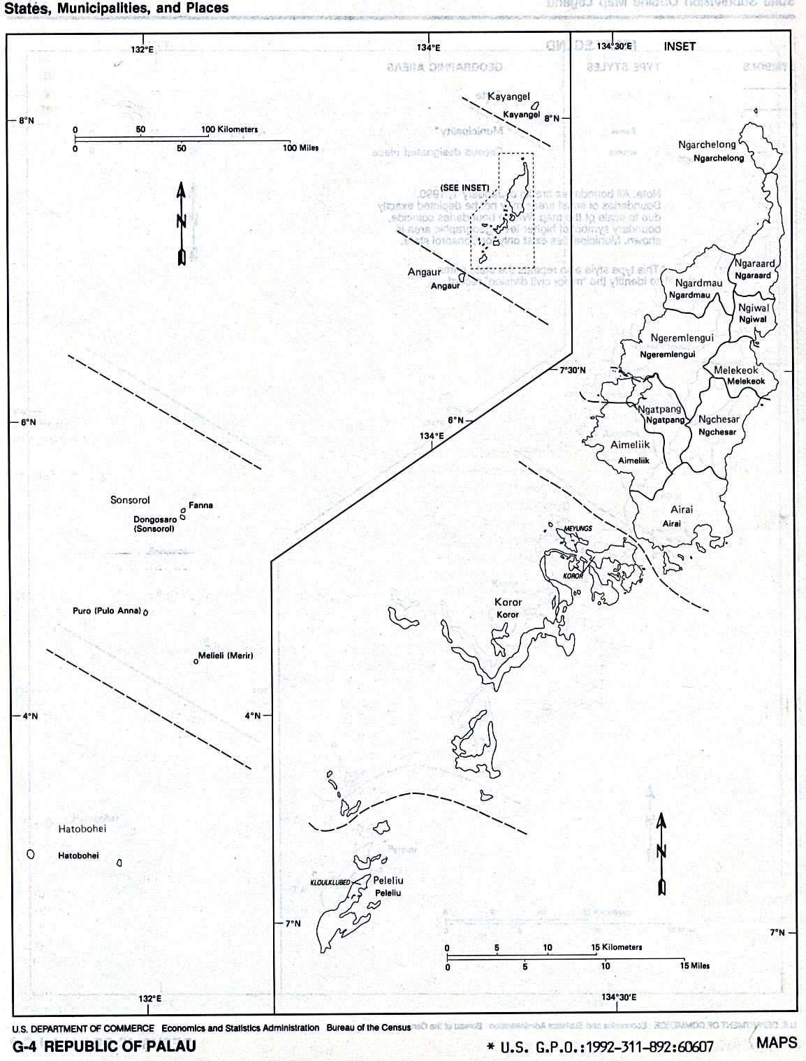 Republic Of Palau Maps